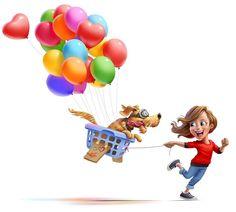 Birthday Wishes, Happy Birthday, Fly Around The World, Me And My Dog, Richard Branson, Freelance Illustrator, The Balloon, Sugar And Spice, Illustrations