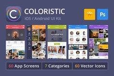 Check out Coloristic: iOS / Android UI Kit by UI Chest on Creative Market