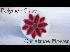 Millefiori cane: Stella di Natale (Christmas flower polymer clay tutorial )