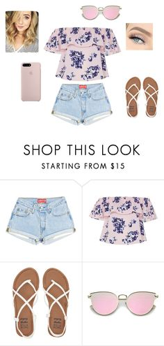 """summery"" by hannahfrink ❤ liked on Polyvore featuring Billabong and GET LOST"