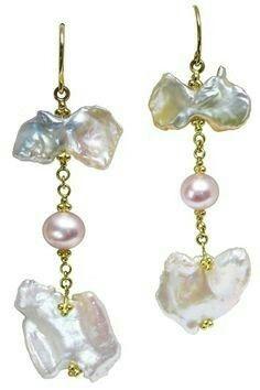 Paula Crevoshay baroque pearl earrings