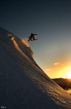 Snowboard - Sunset