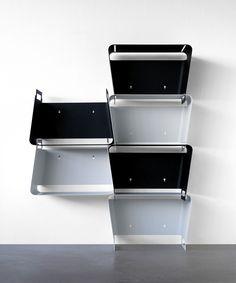 'Vasu' wall shelf, folded metal: Covo/Mikko Laakkonen