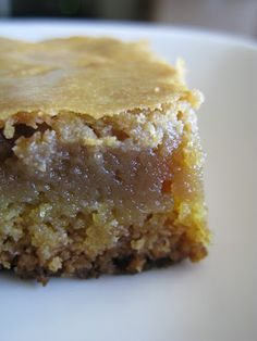 """Tortillas and Honey: """"Cookie Butter"""" Gooey Butter Cakes with Speculaas butter from Trader Joe's Gooey Cake, Gooey Cookies, Gooey Butter Cake, Butter Cookies Recipe, Cookie Butter, Butter Cakes, Butter Pie, Bar Cookies, Cookie Bars"""