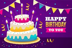 Birthday background with delicious cake , Happy Birthday Flower, Happy Birthday Candles, Colorful Birthday, Happy Birthday Wishes Quotes, Happy Birthday Images, Birthday Greetings, Happy Birthday Template, Free Birthday, Happy Brothers Day