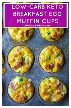 Recipes Breakfast Eggs Breakfast Egg Muffins are the perfect low-carb Keto breakfast muffins to start your day. Easy to make, freezer friendly and completely customizable, these healthy egg muffin cup are the best Keto breakfast recipe to start your day. Low Carb Eier Muffins, Keto Egg Muffins, Mini Egg Muffins, Omlet Muffins, Freezer Muffins, Egg White Muffins, Sausage Egg Muffins, Frittata Muffins, Keto Quiche