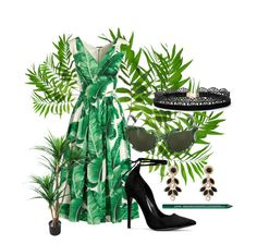 """over the top"" by sherise-roetz ❤ liked on Polyvore featuring Dolce&Gabbana, Vera Bradley, Azalea, NYX, TradeMark and tropical"