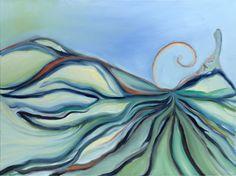 """Let me be sky"" - inspired by the Jai Uttal song. Landscape Painting Artists, Art Portfolio, Ethereal, Let It Be, Sky, Fine Art, Canvas, Imagination, Artwork"