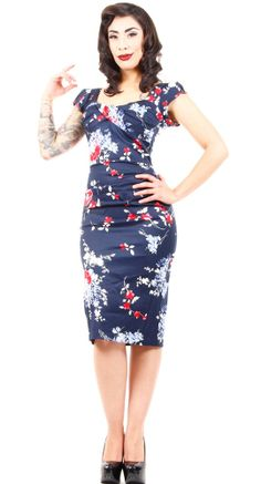You'll be a vision in blue in the fabulous Nova Dress in Blue Floral from Stop Staring! #BlameBetty #Valentines #StopStaring!