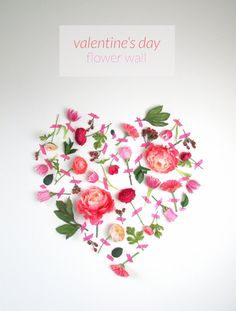 Pin for Later: 20 DIY Valentine's Day Decor Ideas You're Going to Fall in Love With Flower Wall Fresh flowers and tape = the freshest and best smelling wall display ever.