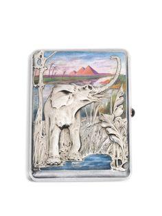 Silver Enamel, Antique Silver, Cigarette Case, Russian Art, Casket, Moscow, Elephant, Antiques, Prints
