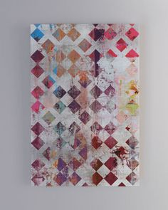 """I like the way this looks like an art journal entry.  """"Think Pink"""" Giclee at Horchow."""