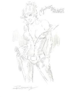 Romero, Enrique Badia - Original drawing - Modesty Blaise - W.B.