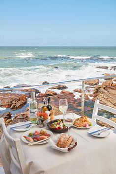 This sea-scraping seafood restaurant, perched on the rocks above the Kalk Bay Harbour, offers smack-of-the-sea dishes and breathtaking ocean vistas. Giant Waves, Fresh Sushi, Harbor House, Seafood Restaurant, Fishing Villages, The Neighbourhood, Restaurants, Ocean, Dishes
