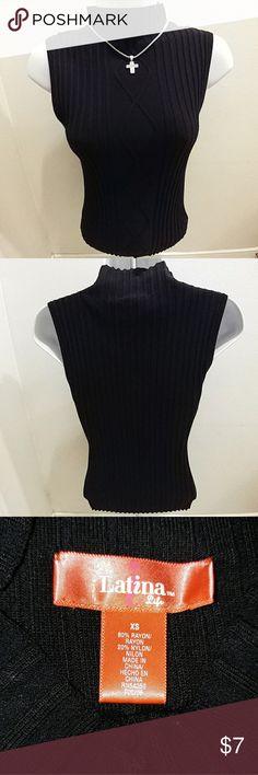 💟Sleeveless turtleneck sweater 💟 😍Latina Life black sleeveless turtleneck sweater. Fitted. Used in great condition! 😍 Latina Life Sweaters Cowl & Turtlenecks