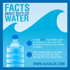Facts About Bottled Water | Visit our website: http://www.alkalux.com