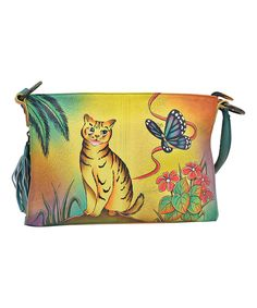 701276b278 Another great find on  zulily! Anna by Anuschka Yellow Cat Hand-Painted  Leather