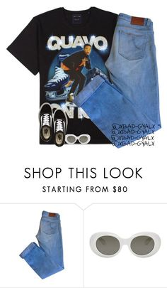 """""""Clout Goggles"""" by xbad-gyalx ❤ liked on Polyvore featuring Maje, Acne Studios and Vans"""
