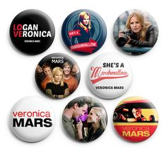 Veronica Mars Pinback Buttons pin Badges 1.25 inch (Pack of 8)