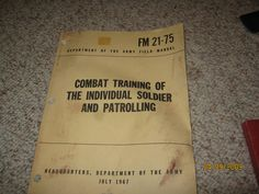 Combat training of the individual soldier by MuddyRiverIronWorks, $10.00
