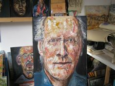 "Saatchi Art Artist Jack Michael Weinblatt; Painting, ""portrait of c e"" #art"