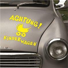 samolepka na auto ACHTUNG - KINDERWAGEN