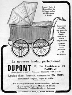The 1920s-1922 ad for Dupont prams