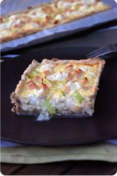 chicken, goat cheese and leek tart No Salt Recipes, Sweet Recipes, Cooking Recipes, Cooking Ideas, Quiches, Veggie Muffins, Food Porn, Salty Foods, Food Inspiration