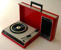 1970s Philips Playby 22GF403 briefcase record player