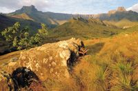 Remembers me of my trip to South Africa: Drakensberg, Lesotho, one of the most beautiful places in the world!