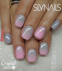 New Nails Gel Glitter Ombre Shellac Ideas Nail Polish, Shellac Nails, Toe Nails, Acrylic Nails, Ombre Shellac, Ombre Nail, Manicures, Fancy Nails, Trendy Nails
