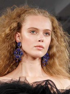 My hair is naturally this frizzy...who knew I was naturally high fashion?!?  (From an Oscar de la Renta show)