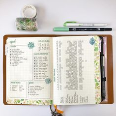 Here is how my calendar and habit tracker ended up for April Everything worked well except I ran out of room for events and deadlines …