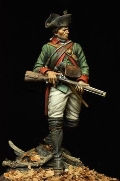 Fort Red Bank Battle - Field Jager Korps 1777 - Virtual Museum of Historical Miniatures Independencia Usa, English Restoration, British Army Uniform, Red Bank, Fur Trade, Figure Reference, American Revolutionary War, Virtual Museum, Figure Model