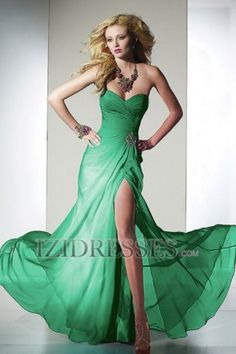 Sheath/Column Strapless Sweetheart Chiffon Prom Dress - IZIDRESS.com