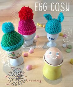 Egg cosy tutorial, in French by Tambouille.