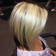 Blonde on top & dark underneath