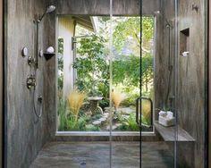 Top 70 Best Shower Window Ideas - Bathroom Natural Light Shower Base, Large Shower, Bathroom Floor Plans, Bathroom Flooring, Guest Bathrooms, Modern Bathroom, Bathroom Ideas, Bathroom Interior, Small Bathroom