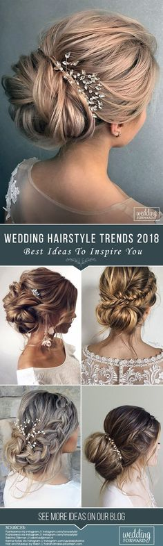 Be a trendy bride with trendy hairstyle!