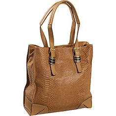 """Sloane & Alex Annie Tote   Our Price:  $228.00  We're sorry, discount coupons do not apply to this item.  $228.00    ize:  Large  Dimensions:  14.43"""" x 13.65"""" x 5.46""""  Drop Length:  10""""  Weight:  1 lb  Material:  Tumbled Embossed Snake"""