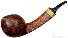 New Tobacco Pipes: Alexander Tupitsyn Smooth Bent Apple with Olivewood at Smokingpipes.com
