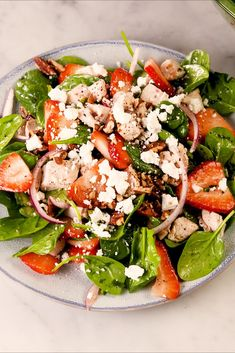 Strawberry Spinach SaladDelish