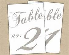table numbers for wedding reception - - Yahoo Image Search Results