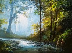 """""""Palette Knife Only Landscape Painting"""" by Kevin Hill Check out my YouTube channel: KevinOilPainting For more information about brushes, DVDs, events, and more go to: www.paintwithkevin.com"""