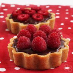Pierre Herme chocolate raspberry mini tarts – Bread et Butter