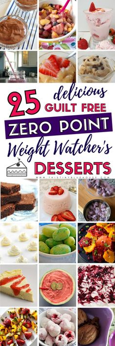 Allow yourself to enjoy a decadent and satisfying dessert while sticking to your Weight Watchers diet. Here are 25 delicious GUILT FREE zero point weight watchers desserts for you to enjoy. Ww Recipes, Healthy Recipes, Salad Recipes, Healthy Habits, Healthy Foods, Cooking Recipes, Ww Desserts, Dessert Recipes, Dessert Ideas