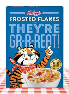 Retro Tony The Tiger. Still GRRREAT!
