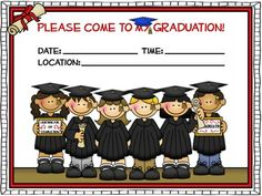 Preschool graduation v1 party invitation diy printable digital free 4 different styled graduation invitations to use to invite your students parents to graduation parent will save them for years to come kindergarten filmwisefo Image collections