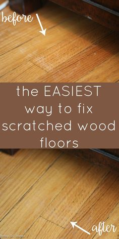How to Fix Scratched Hardwood Floors in No Time! - Average But Inspired You don't have to live with scratched hardwood floors! There is a super easy way to fix shallow scratches and it doesn't cost a lot! Scratched Wood Floors, Hardwood Floor Scratches, Wood Scratches, Repair Scratched Wood, Clean Hardwood Floors, Hardwood Floor Repair, Pine Floors, House Cleaning Tips, Diy Cleaning Products