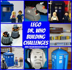 Lego Doctor Who Building Challenges from The Lunchbox Season for our Lego Doctor Who New Year's Eve Party